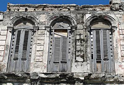 Photograph - Windows With Shutters by Ethna Gillespie