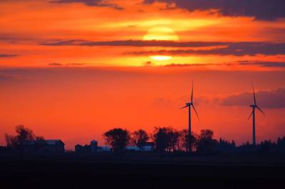 Photograph - Windpower Sunrise by Bonfire Photography