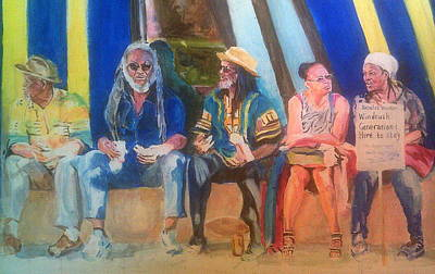 Painting - Windrush Protesters by Rosanne Gartner