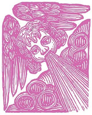Wings Drawing - Winds Tess by Edward Fielding