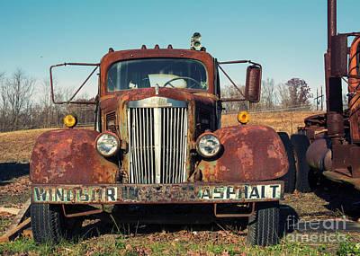 Photograph - Windsor Asphalt Truck by Terry Rowe