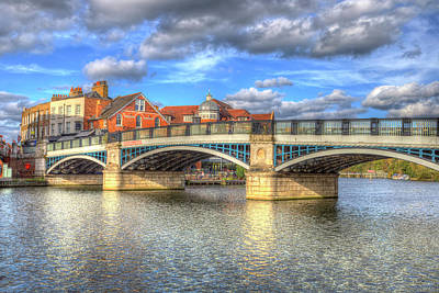 Photograph - Windsor Bridge River Thames by David Pyatt