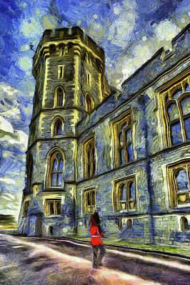 Impressionism Photos - Windsor Castle and Coldstream Guard Art by David Pyatt