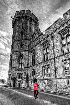 Photograph - Windsor Castle Coldstream Guard by David Pyatt