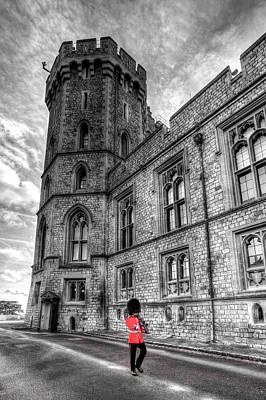 Photograph - Windsor Castle Coldstream Guard by David Pyatt