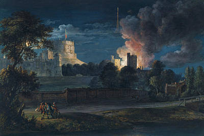 Painting - Windsor Castle From Datchet Lane On A Rejoicing Night by Paul Sandby