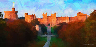 Digital Art - Windsor Castle by Roger Lighterness