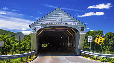 Photograph - Windsor - Cornish Covered Bridge by Scenic Vermont Photography