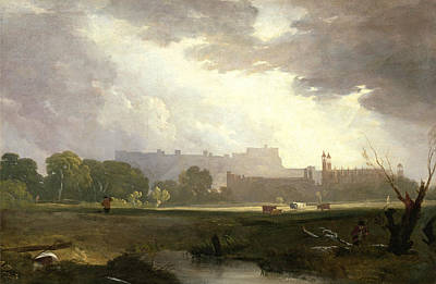 Augustus Wall Callcott Painting - Windsor From Eton by Augustus Wall Callcott
