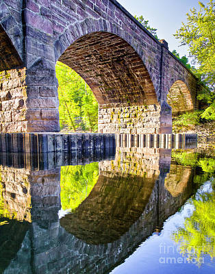 Photograph - Windsor Rail Bridge by Tom Cameron
