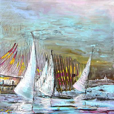 Water Sports Art Painting - Windsurf Impression 03 by Miki De Goodaboom