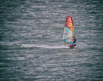 Windsurfing Photograph - Windsurfer by Martin Newman