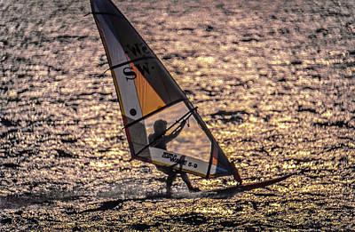 Photograph - Windsurfer Silhouette by David Halperin