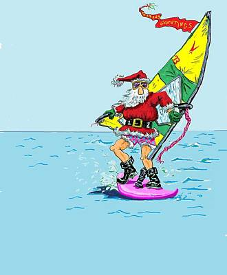 Windsurfin' Santa Original