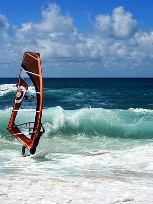 Sports Royalty-Free and Rights-Managed Images - Windsurfing Hookipa by Sharon Mau