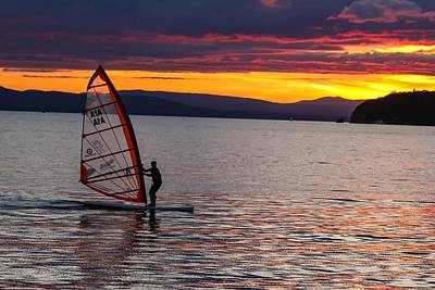 Photograph - Windsurfing Lake Champlain by Sven Kielhorn