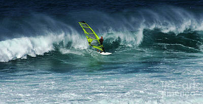 Photograph - Windsurfing Maui Hawaii 2 by Bob Christopher