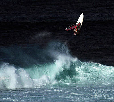 Photograph - Windsurfing Maui Hawaii by Bob Christopher