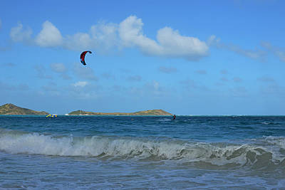 Sint Maarten Wall Art - Photograph - Windsurfing Orient Beach In Saint Martin by Toby McGuire
