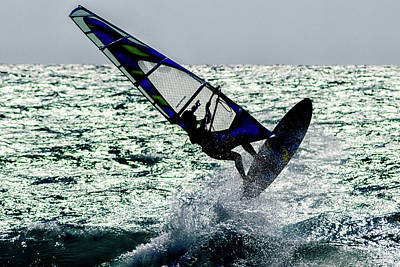 Athletes Royalty-Free and Rights-Managed Images - Windsurfing by Stelios Kleanthous