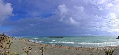 Photograph - Windswept Beach Panorama by Yali Shi