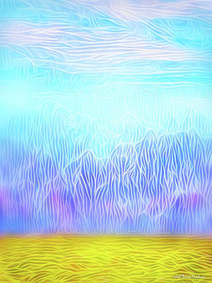 Digital Art - Windswept Desert Mountains by Joel Bruce Wallach
