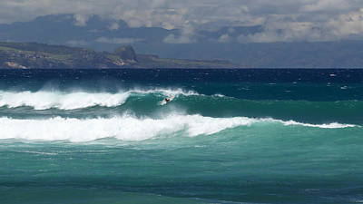 Art Print featuring the photograph Windswept Ho'okipa by Susan Rissi Tregoning