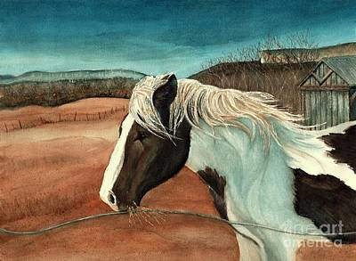 Painting - Windswept - Paint Horse - Shawangunk by Janine Riley