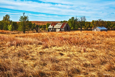Photograph - Windswept Prairie Barn by Anna Louise