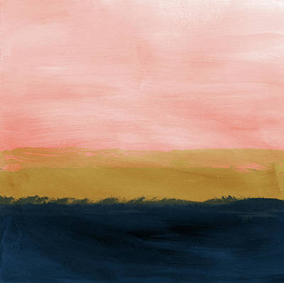 Abstract Landscape Painting - Windswept Sunset- Abstract Art By Linda Woods by Linda Woods