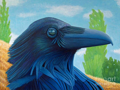 Visionary Painting - Windswept Visionary by Brian  Commerford