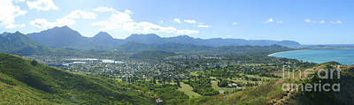 Windward Oahu Panorama I Art Print by David Cornwell/First Light Pictures, Inc - Printscapes