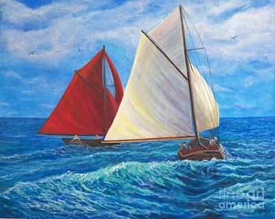 Windy Adventure Original by Alina Martinez-beatriz