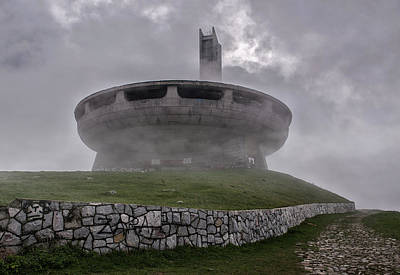 Photograph - Windy And Cloudy Day At Buzludzha by Jaroslaw Blaminsky