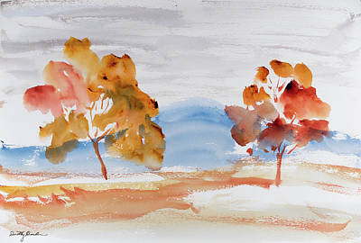 Windy Autumn Colours  Art Print