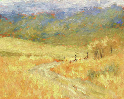 Digital Art - Windy Autumn Dop by David King