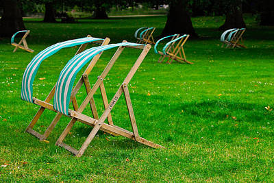 Photograph - Windy Chairs by Harry Spitz