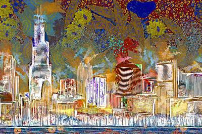 Photograph - Windy Chicago Illinois Skyline Celebration 20180516 V3 by Wingsdomain Art and Photography