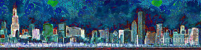 Photograph - Windy Chicago Illinois Skyline Party Nights 20180516 by Wingsdomain Art and Photography