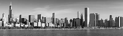 Windy City Morning Art Print by Donald Schwartz