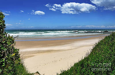Photograph - Windy Day At Oxley Beach By Kaye Menner by Kaye Menner