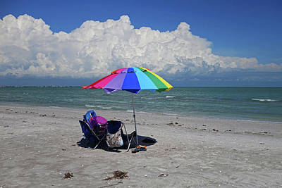 Photograph - Windy Day At The Beach On Sanibel Island Fort Myers Florida Fl by Toby McGuire
