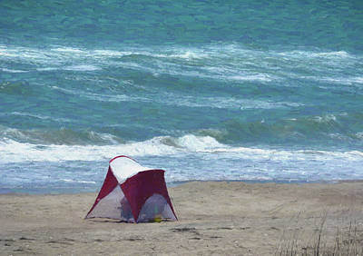 Photograph - Windy Day Beach Tent by Sandi OReilly