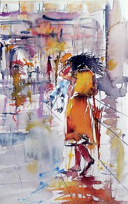 Windy Day Painting - Windy Day by Kovacs Anna Brigitta