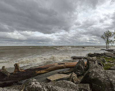 Photograph - Windy Day On Lake Erie by Jack R Perry