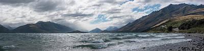 Art Print featuring the photograph Windy Day On Lake Wakatipu by Gary Eason
