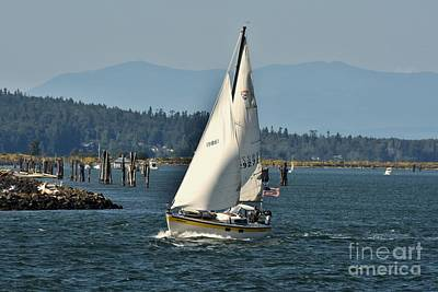 Seascape Photograph - Windy Day On The Sound by Scott Cameron