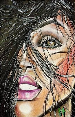 Drawing - Windy Daze by RiA RiA