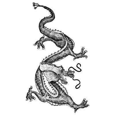 Windy Dragon Art Print