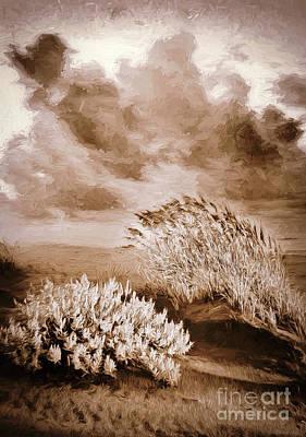 Digital Art - Windy Dunes At Sunrise Ap by Dan Carmichael